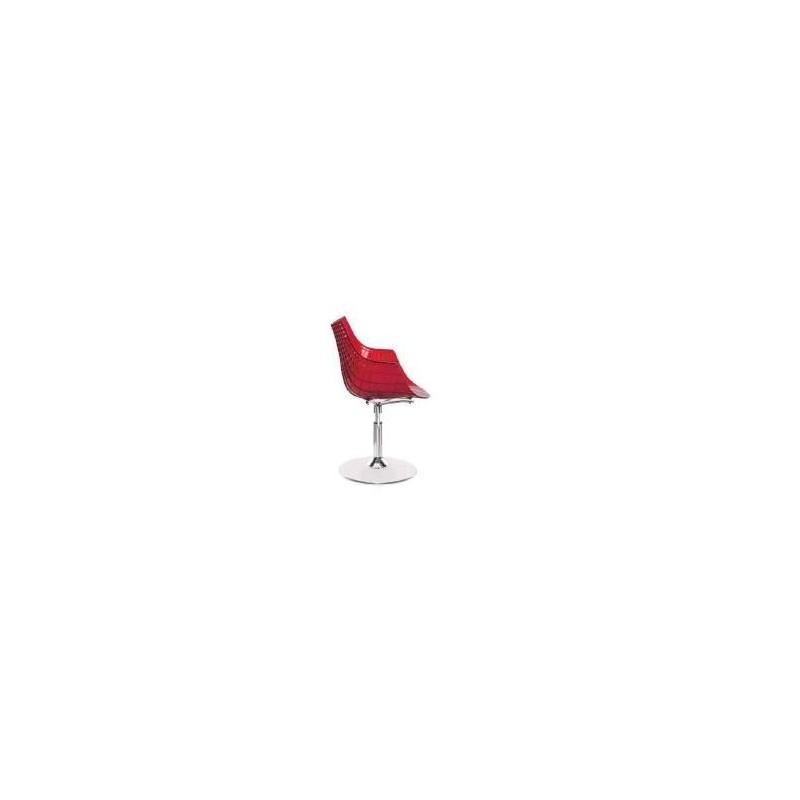 Cadeira Kubika Policarbonato copa vermelha