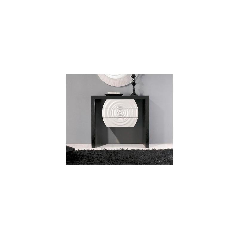 Consola ref HMDCNS12 Splash c/3 gavetas wengué preto +lacado cinza