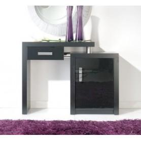 Consola HMDCNS06 Wengué +lacado preto 1 gaveta +1 porta
