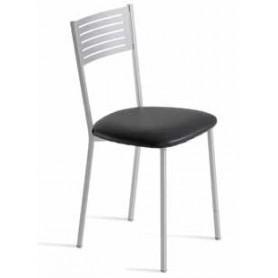 cadeira zen estrutura metalica assento estofado