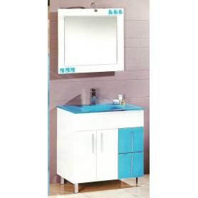 Movel Badajoz 80cm WC casa banho com espelho