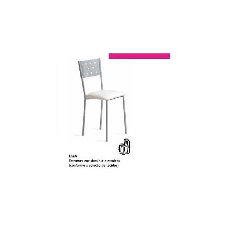 cadeira lua estrutura metalica assento estofado