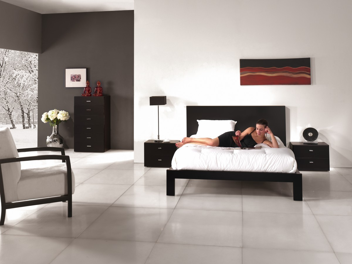 quarto casal primavera 5q com cabeceira lisa 1. Black Bedroom Furniture Sets. Home Design Ideas