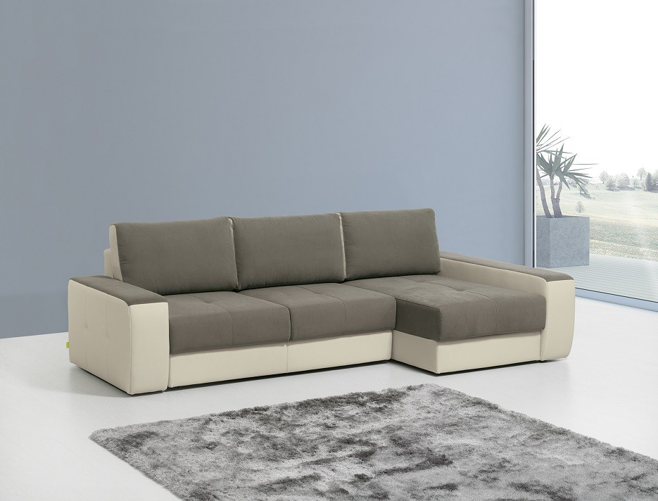 Sof lucho chaise longue com cama 682 50 for Sofa cama chaise longue
