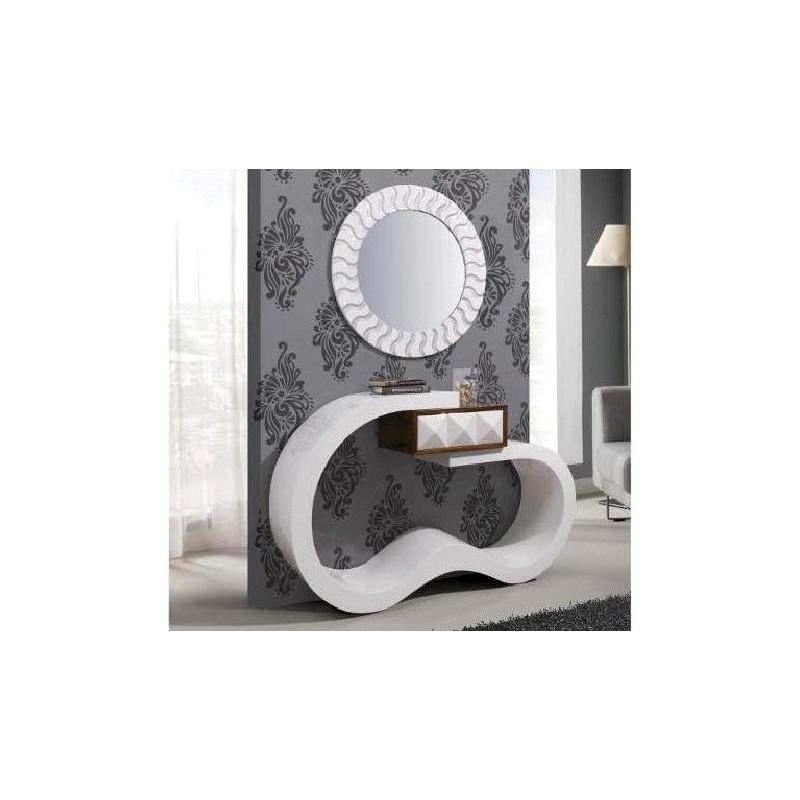 Consola Oceano Ref 3779 com moldura espelho