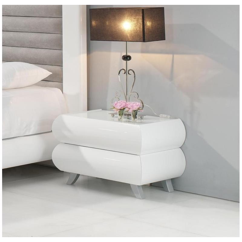 Mesa Cabeceira Lilac 4013.33 Lacado Branco