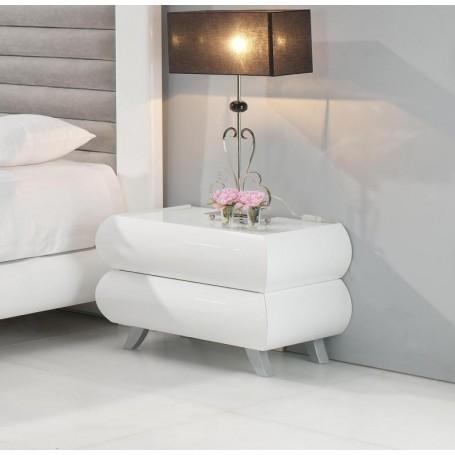 Mesa de Cabeceira Lilac 4013.33 Lacado Branco