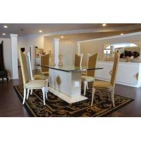 Sala de Jantar White/Gold Collection M313