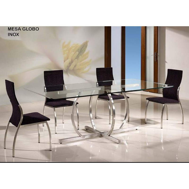 Mesa de Sala de Vidro Globo 200*100 Ref. 930
