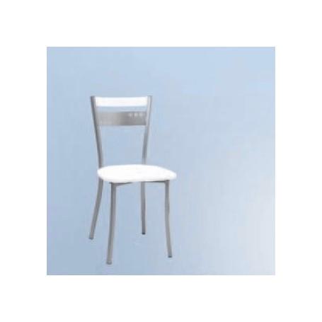 Cadeira Coroa-Branca c/Assento Estofado