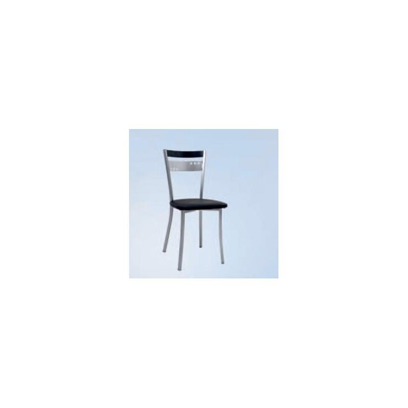 Cadeira Coroa-Preta c/Assento Estofado