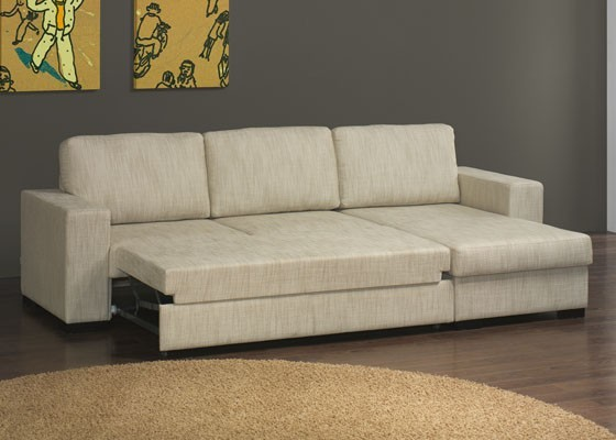 Sof riga chaise longue com cama lourini 817 60 for Sofas chaise longue cama